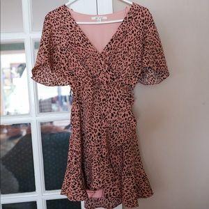 Cheetah print tie dress, Francesca's